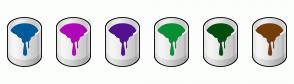 Color Scheme with #005B9A #AF07B8 #511191 #0A8F32 #034D0E #733E09