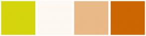 Color Scheme with #D5D50D #FDF8F2 #EAB988 #CC6600