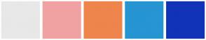 Color Scheme with #E8E8E8 #F0A2A2 #EE854C #2695D2 #1133B8