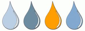 Color Scheme with #BACFE4 #6D8CA0 #FF9E01 #82A9D0