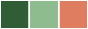 Color Scheme with #305D35 #8FBC8F #DF7D60