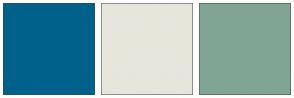 Color Scheme with #00628B #E6E6DC #81A594