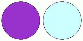 Color Scheme with #9932CD #CCFFFF