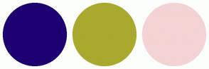 Color Scheme with #1E0073 #A9A92D #F3D3D3
