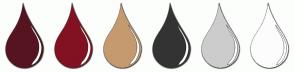 Color Scheme with #561420 #821122 #C59A6F #333333 #CCCCCC #FCFCFC