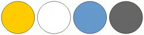 Color Scheme with #FFCC00 #FFFFFF #6699CC #666666