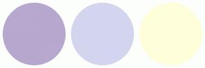 Color Scheme with #B6A8CE #D3D5EE #FFFEDB