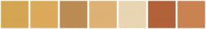 Color Scheme with #D4A651 #DBAA5B #BB8C54 #DEB275 #E9D5B2 #B16239 #C98352
