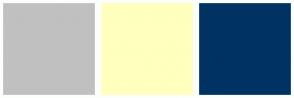 Color Scheme with #C0C0C0 #FFFFBE #003264