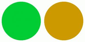 Color Scheme with #00CC33 #CC9900