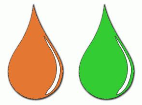 Color Scheme with #E47833 #33CC33