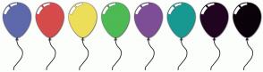 Color Scheme with #5E69AB #D64B4B #EDDE5A #4EBA54 #7D4E96 #179992 #200521 #0A030A