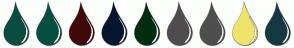 Color Scheme with #084D3F #064F40 #40080A #071630 #022E0F #4F4C4F #4F4F4F #F0E36C #153942