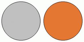Color Scheme with #C0C0C0 #E47833