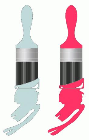 Color Scheme with #C0D9D9 #FF3366