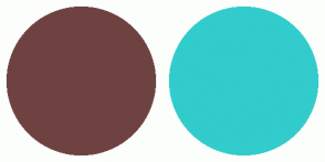 Color Scheme with #6F4242 #33CCCC