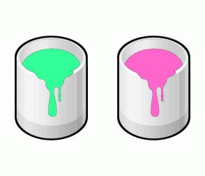 Color Scheme with #33FF99 #FF66CC