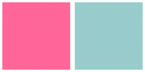 Color Scheme with #FF6699 #99CCCC