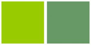 Color Scheme with #99CC00 #669966