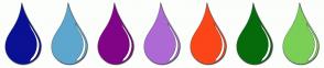 Color Scheme with #0A1194 #5DA7CF #810487 #AE6AD4 #FA4619 #066B0B #7BCF57
