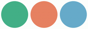 Color Scheme with #42AF86 #E68161 #66AAC9