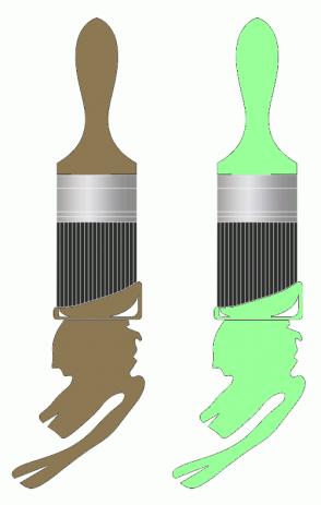 Color Scheme with #8C7853 #99FF99