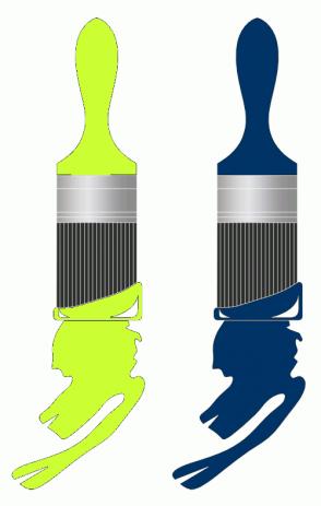 Color Scheme with #CCFF33 #003366