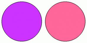 Color Scheme with #CC33FF #FF6699