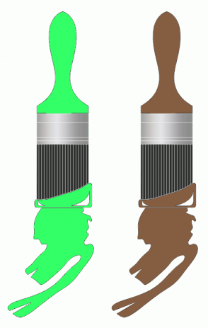 Color Scheme with #33FF66 #855E42