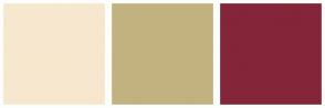 Color Scheme with #F7E7CE #C2B280 #842539