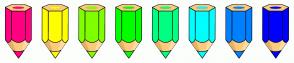 Color Scheme with #FF0080 #FFFF00 #80FF00 #00FF00 #00FF80 #00FFFF #0080FF #0000FF