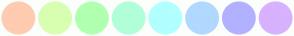 Color Scheme with #FFCBB1 #D8FFB1 #B1FFB1 #B1FFD8 #B1FFFF #B1D8FF #B1B1FF #D8B1FF
