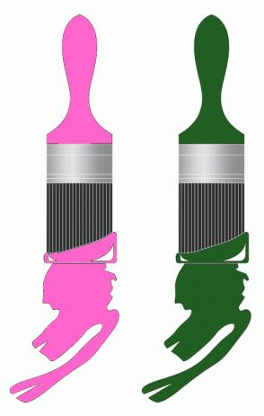 Color Scheme with #FF66CC #215E21