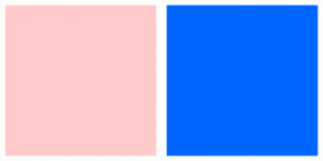 Color Scheme with #FFCCCC #0066FF