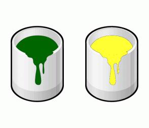Color Scheme with #006600 #FFFF33