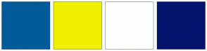 Color Scheme with #005B9A #F0F000 #FFFFFF #04146E