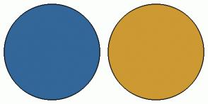 Color Scheme with #336699 #CC9933