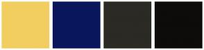 Color Scheme with #F2CE61 #09165C #2B2A24 #0D0C0A