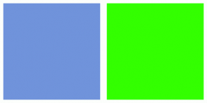 Color Scheme with #7093DB #33FF00