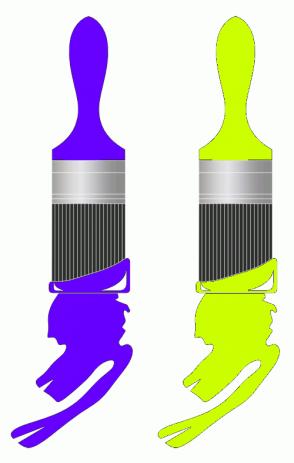 Color Scheme with #6600FF #CCFF00