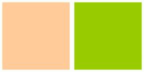 Color Scheme with #FFCC99 #99CC00
