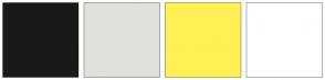 Color Scheme with #191919 #DFE2DB #FFF056 #FFFFFF