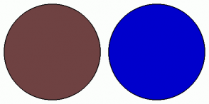 Color Scheme with #6F4242 #0000CC