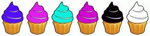 Color Scheme with #570FFF #E31FED #0AF2DB #D108D1 #0A020A #FFFFFF