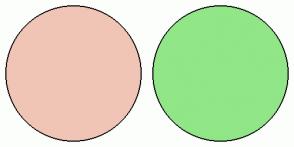 Color Scheme with #F0C5B6 #91E687