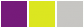 Color Scheme with #761B7A #DCE620 #C7C6C3