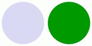 Color Scheme with #D9D9F3 #009900