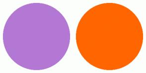 Color Scheme with #B378D3 #FF6600