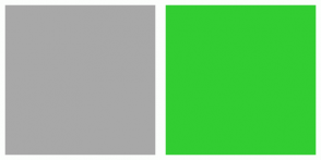 Color Scheme with #A8A8A8 #32CD32