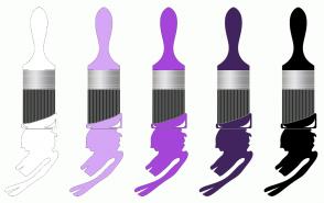 Color Scheme with #FFFFFF #D5A6F5 #A545D9 #41245E #000000